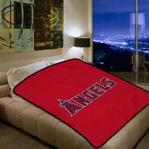 Los Angeles Angels Of Anaheim MLB Baseball Team 105 Polar Fleece Blanket Throw Bedroom Decor Bed Set
