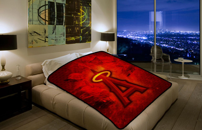 Los Angeles Angels Of Anaheim MLB Baseball Team 109 Polar Fleece Blanket Throw Bedroom Decor Bed Set