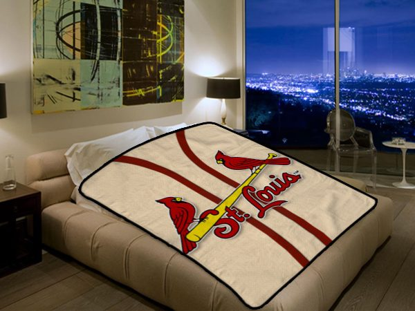 St Louis Cardinals MLB Baseball Team 40 Polar Fleece Blanket Classy St Louis Cardinals Throw Blanket