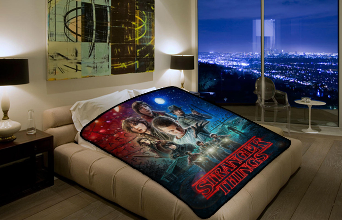 Stranger Things Drama Tv Series 2732 Polar Fleece Blanket