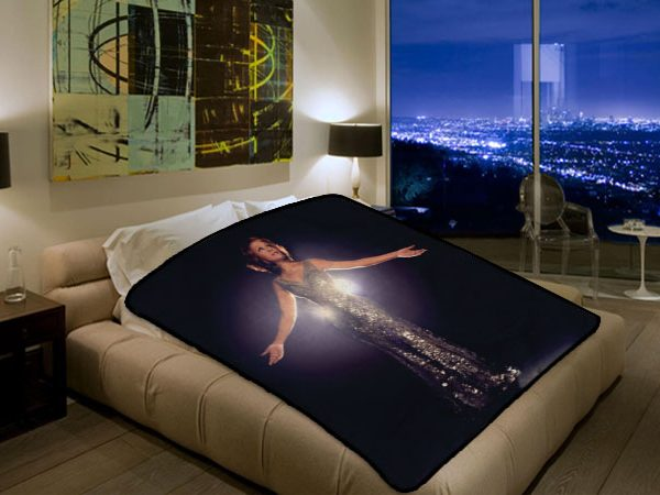 Whitney Houston Singer #3206 Polar Fleece Blanket Throw Bedroom Decor Bed  Set
