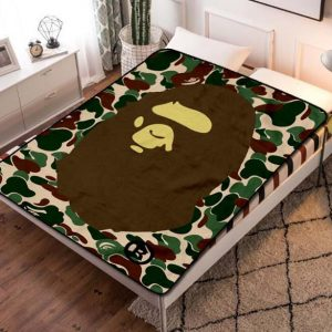 A Bathing Ape Camo Blanket