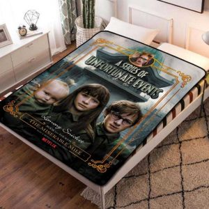 A Series of Unfortunate Events Fleece Blanket Throw Bed Set