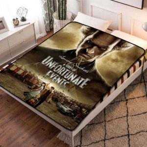 A Series of Unfortunate Events TV Show Quilt Blanket Fleece Bed Set