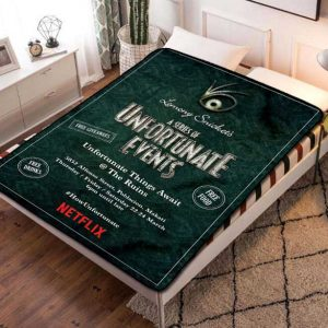 A Series of Unfortunate Events TV Shows Fleece Blanket Throw Bed Set