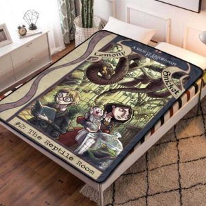 A Series of Unfortunate Events Fleece Blanket Throw Quilt