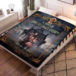 A Series of Unfortunate Events TV Shows Fleece Blanket Quilt