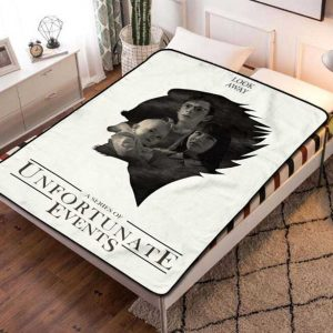 A Series of Unfortunate Events TV Series Fleece Blanket Throw Bed Set