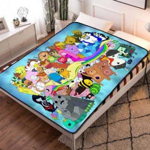 Adventure Time Characters Fleece Blanket Throw Quilt