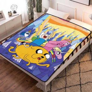 Adventure Time Poster Fleece Blanket Throw Quilt