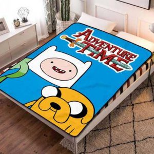 Adventure Time Poster Fleece Blanket Throw Bed Set