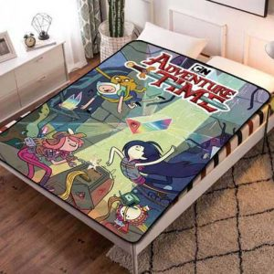 Adventure Time Shows Fleece Blanket Throw Bed Set