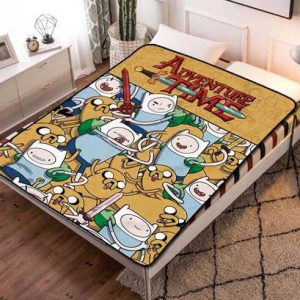Adventure Time Characters Fleece Blanket Throw Bed Set