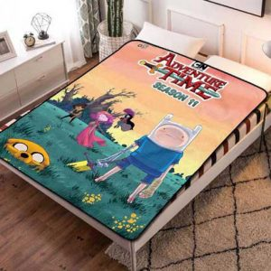Adventure Time Design Fleece Blanket Throw Bed Set