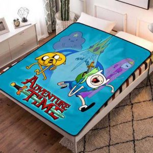 Adventure Time Shows Fleece Blanket Throw Quilt