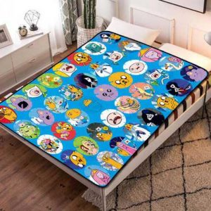 Adventure Time Patterns Fleece Blanket Throw Quilt