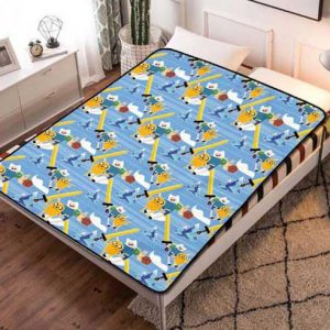 Adventure Time Fleece Blanket Throw Bed Set