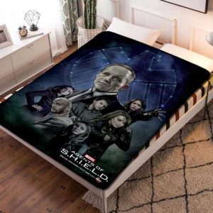 Marvel Agents of S.H.I.E.L.D. SHIELD Characters Quilt Blanket Fleece Bed Set