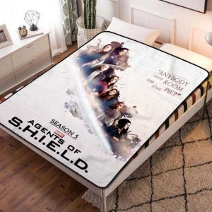 Marvel Agents of S.H.I.E.L.D. SHIELD Poster Quilt Blanket Throw Fleece