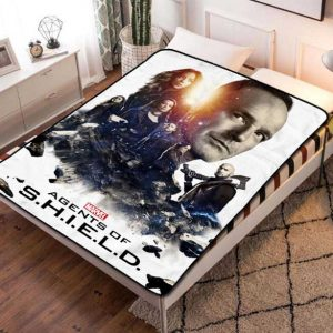 Agents of SHIELD Characters Fleece Blanket Throw Bed Set