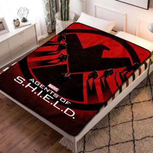 Marvel Agents of S.H.I.E.L.D. SHIELD TV Shows Quilt Blanket Fleece Bed Set