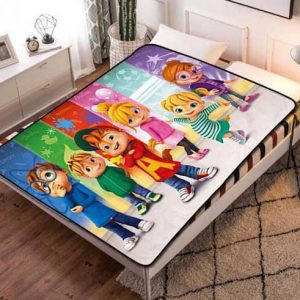 Alvin and the Chipmunks Characters Quilt Blanket Throw Fleece