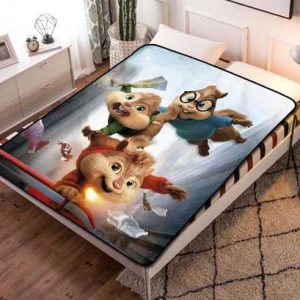 Alvin and the Chipmunks Movies Quilt Blanket Fleece Bed Set