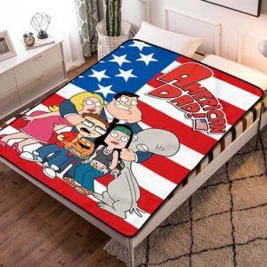 American Dad Fleece Blanket Throw Bed Set