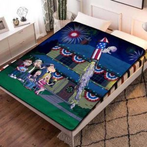 American Dad! Cartoon Quilt Blanket Fleece Throw