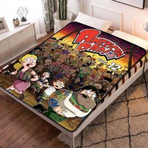 American Dad Characters Fleece Blanket Throw Quilt