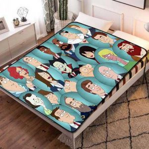 Chillder American Dad Blanket. American Dad Fleece Blanket Throw Bed Set Quilt Bedroom Decoration.