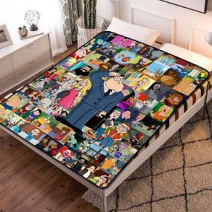American Dad Fleece Blanket Throw Quilt