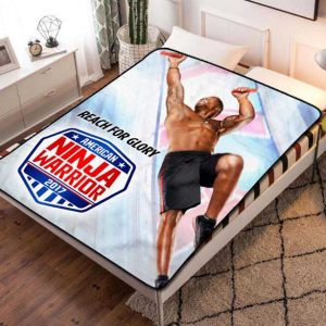 American Ninja Warrior Glory Fleece Blanket Throw Bed Set