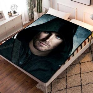 Arrow Hero TV Series Fleece Blanket Throw Bed Set