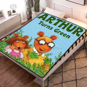 Arthur Turns Green Fleece Blanket Throw Quilt
