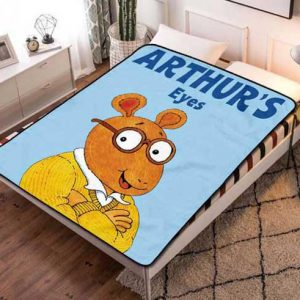 Arthur Eyes Fleece Blanket Throw Quilt