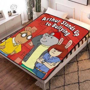 Arthur Stand Up Bullying Fleece Blanket Quilt
