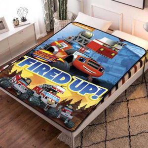 Blaze and the Monster Machines Fired Up Fleece Blanket Throw Quilt