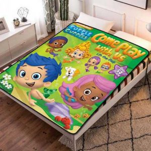 Bubble Guppies Play With Us Fleece Blanket Throw Quilt