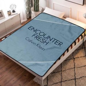 Calvin Klein Encounter Fresh Fleece Blanket Throw Quilt