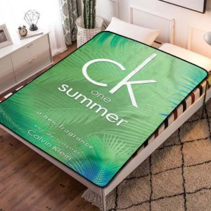 Calvin Klein CK One Summer Fleece Blanket Throw Quilt