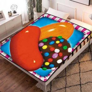 Candy Crush Fleece Blanket Throw Quilt
