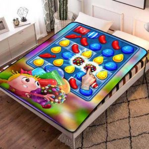 Candy Crush Characters Fleece Blanket Throw Bed Set
