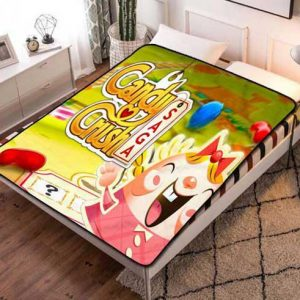 Candy Crush Saga Fleece Blanket Throw Quilt