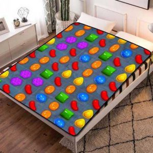 Candy Crush Patterns Fleece Blanket Throw Quilt