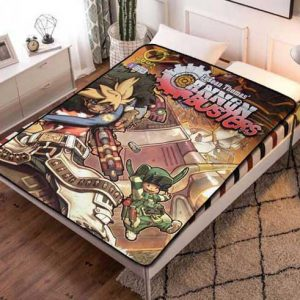 Cannon Busters Characters Fleece Blanket Throw Bed Set