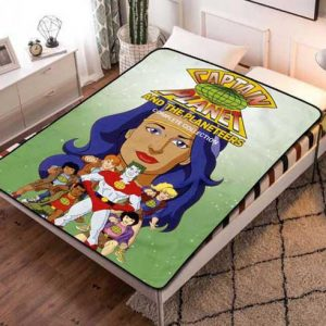 Captain Planet and the Planeteers Characters Fleece Blanket Quilt