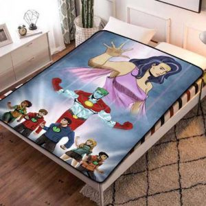 Captain Planet and the Planeteers Cartoon Fleece Blanket Throw Bed Set