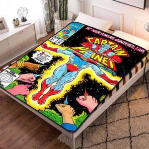 Captain Planet and the Planeteers Characters Fleece Blanket Throw Bed Set
