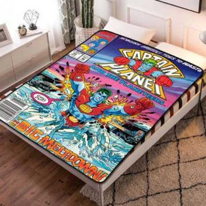 Captain Planet and the Planeteers Fleece Blanket Throw Bed Set